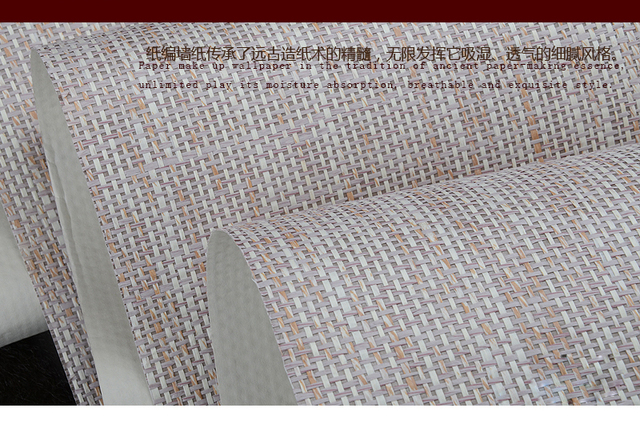 white 3002 paper weave natural textures wallpaper for home office