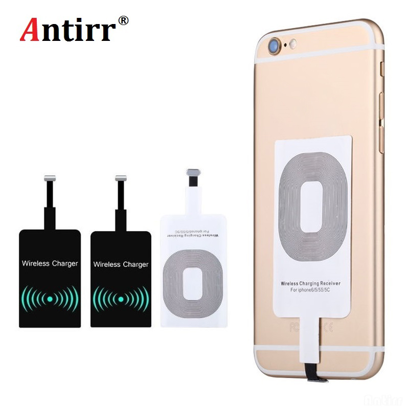 Universal Receiver Adapter Pad Smart Receptor Chip Module <font><b>Qi</b></font> Standard Wireless Charger Transmitter Patch For <font><b>iPhone</b></font> <font><b>6</b></font> 6S 7 plus image