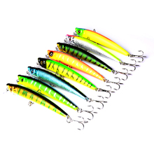 YUZI 8pieces/lot 95mm/7.3g Minnow Fishing lures/baits Plastic Hard baits Mix 8colors fishing tackle