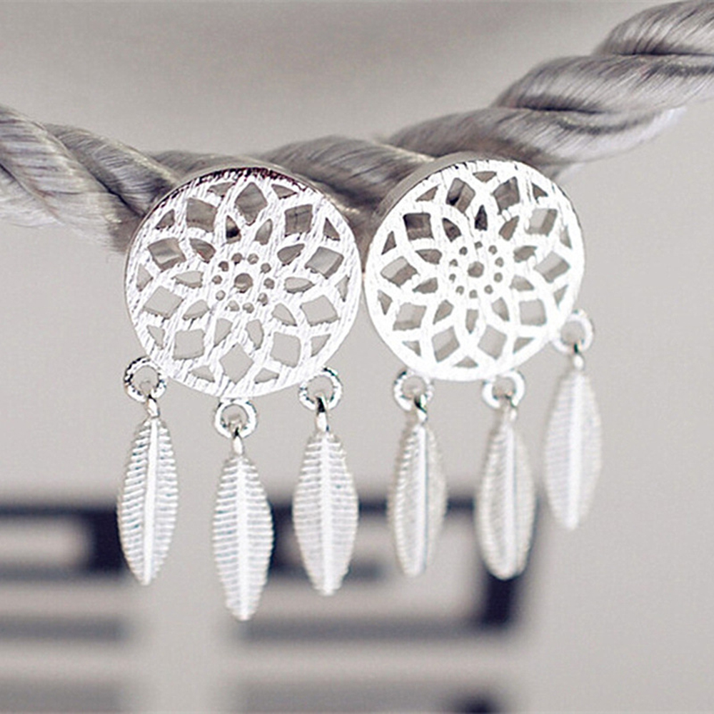 1 Set Europen Fashion Earring Dreamcatcher Style Diy Fit Women Party  Jewelry High Quality Earring Her003
