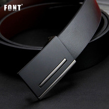2017 New men's genuine leather belt men cowskin belt formal suit trousers belt double metal buckle strap gift for men belts