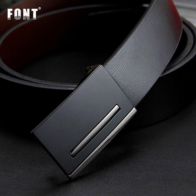 2017 Nouveau hommes de cuir véritable ceinture hommes cowskin ceinture formelle costume pantalon ceinture double boucle en métal bracelet cadeau pour les hommes ceintures