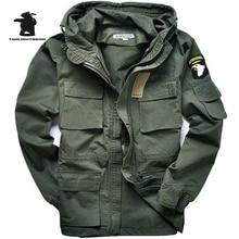 Military Uniform Men's 101 Air Force Plus Size Trench 100% Cotton Slim Waist Classic Wadded Jacket Parka Jacket Coat M~3XL C35E2