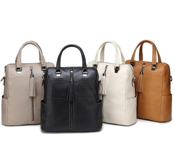 New Style Women Genuine Leather Large Soft Backpack Outdoor Casucal Bag