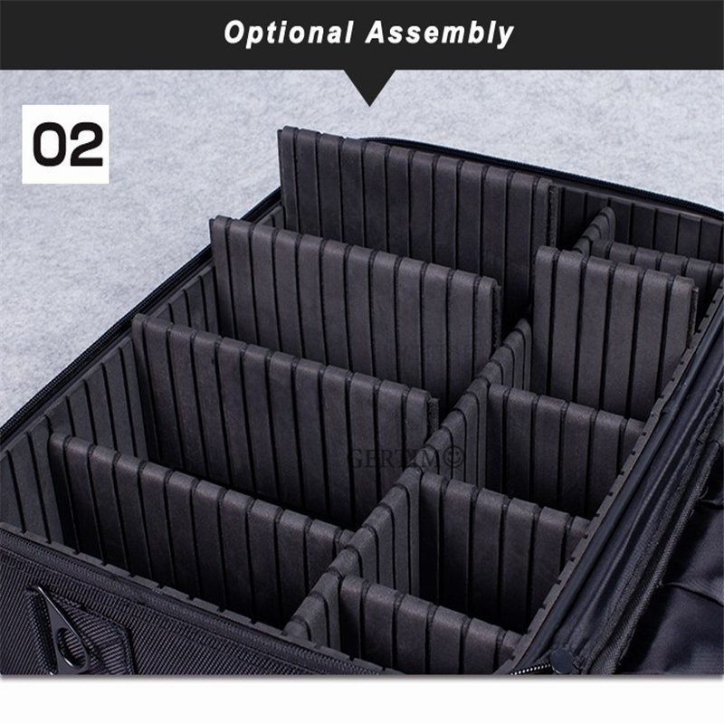 Professional Beauty Suitcase MakeUp Cosmetic Waterproof Women Makeup Case Organizer Large Capacity Storage Travel Pouch Bag in Cosmetic Bags Cases from Luggage Bags