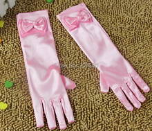 10 pairs Girls Kids Gloves Children Princess Bow Fancy Party Dress Bridesmaid Gloves