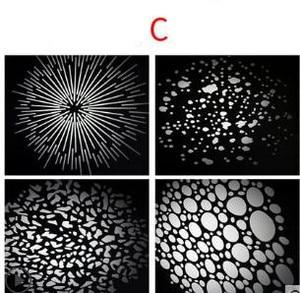 Image 3 - LED kondensator rohr projektion film grafik DIY licht rohr form einfügen OT1 kondensator objektiv hintergrund licht wirkung film NO00DGT07