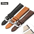 iStrap 18mm 19mm 20mm 21mm 22mm France Calf Leather Watch band Watch Strap with Quick Release Spring Bar For Omega Tissot Seiko