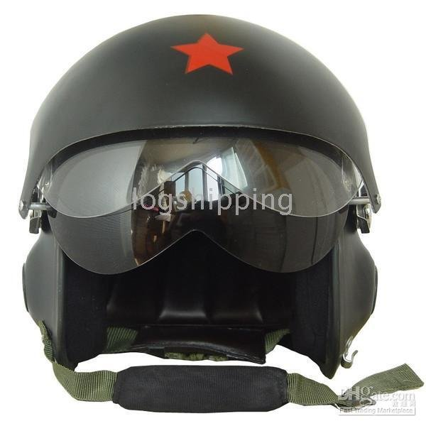 Fighter Pilot Motorcycle Helmet NEW CHINESE MIL...
