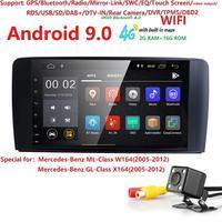 Android 9.0 car radio GPS multi media player for Merdedes Benz ML Class W164 GL Class X164 ML/GL350 500 320 450 ML300 GL420 DAB+