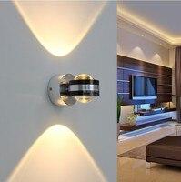 Para cima e Para Baixo de iluminação 6 W de alta potência levou fundo da parede holofotes luz de lavagem de parede levou lâmpada de parede de luz cama de iluminação da lâmpada da escada