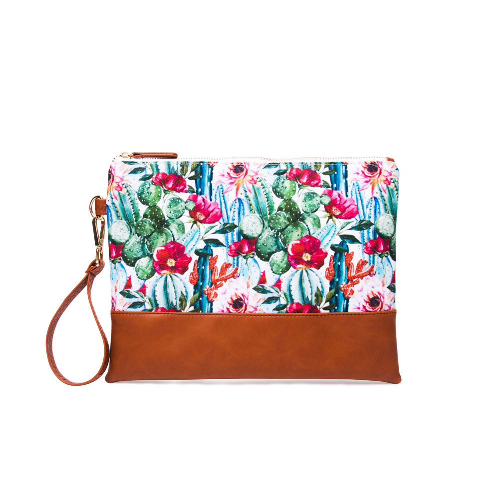 Fashion Make Up Bag Soft Canvas Flower Cosmetic Bags Luxury Ladies Travel Toiletries Zipper Pouch Girls Day Clutches Purse Women
