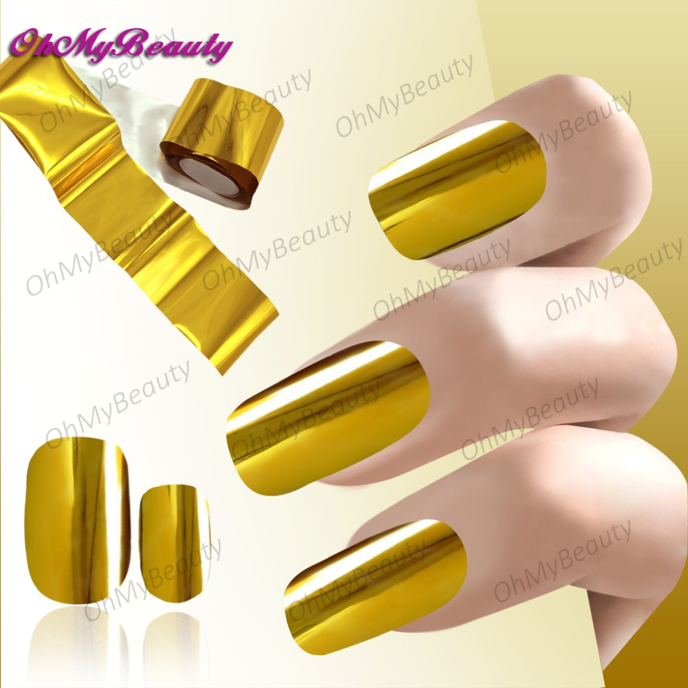 1 Roll Gold Nail Sticker Transfer Foil Sticker Decals Gold Nail ...