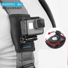 Mochila alça de ombro suporte suporte de montagem para gopro hero 8 7 6 5 4 sjcam eken yi 4 k dji osmo acessórios da câmera ação