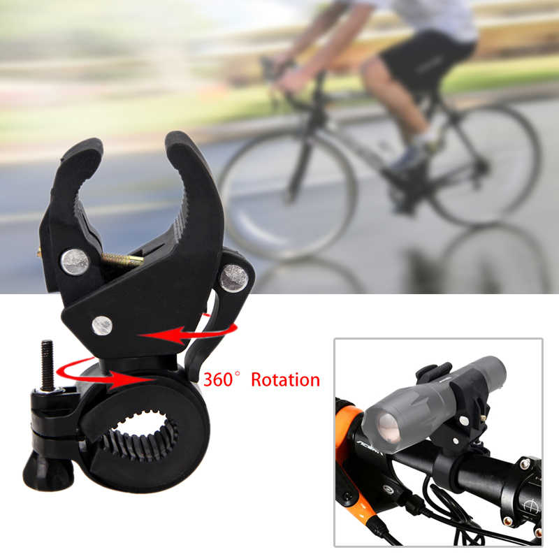 360 Degree Swivel Bike Flashlight Mount Holder Bicycle Torch Clip Clamp Cycling