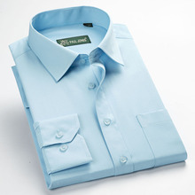 new arrival high quality classic twill business men's shirts long sleeve turndown collar plus size 5xl dress shirt