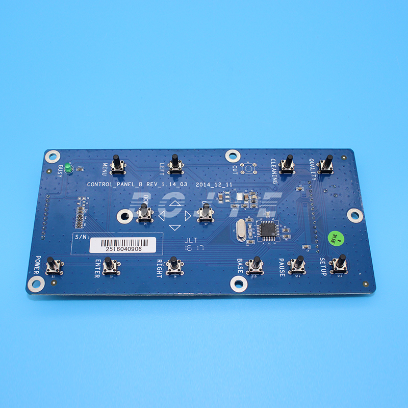 Zhongye key board press button board for XP600 printhead version 1.14-03 gongzheng printer 3206ds spare parts press button board key board for seiko printhead