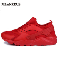 Autumn Fashion Casual Mesh Shoes Men Flat Shoes Winter Lace Up Breathable Male Footwear Black Color