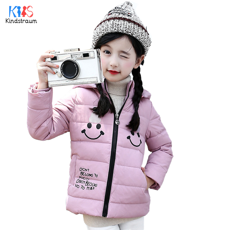 Kindstraum 2017 Children Thick Down Coats High Cotton Kids Hooded Cute Clothes Winter Warm Pockets Wear for Girls,RC1498 mmc brand children s winter thick warm brief style gradient splice high quality hooded down coats for girls 90