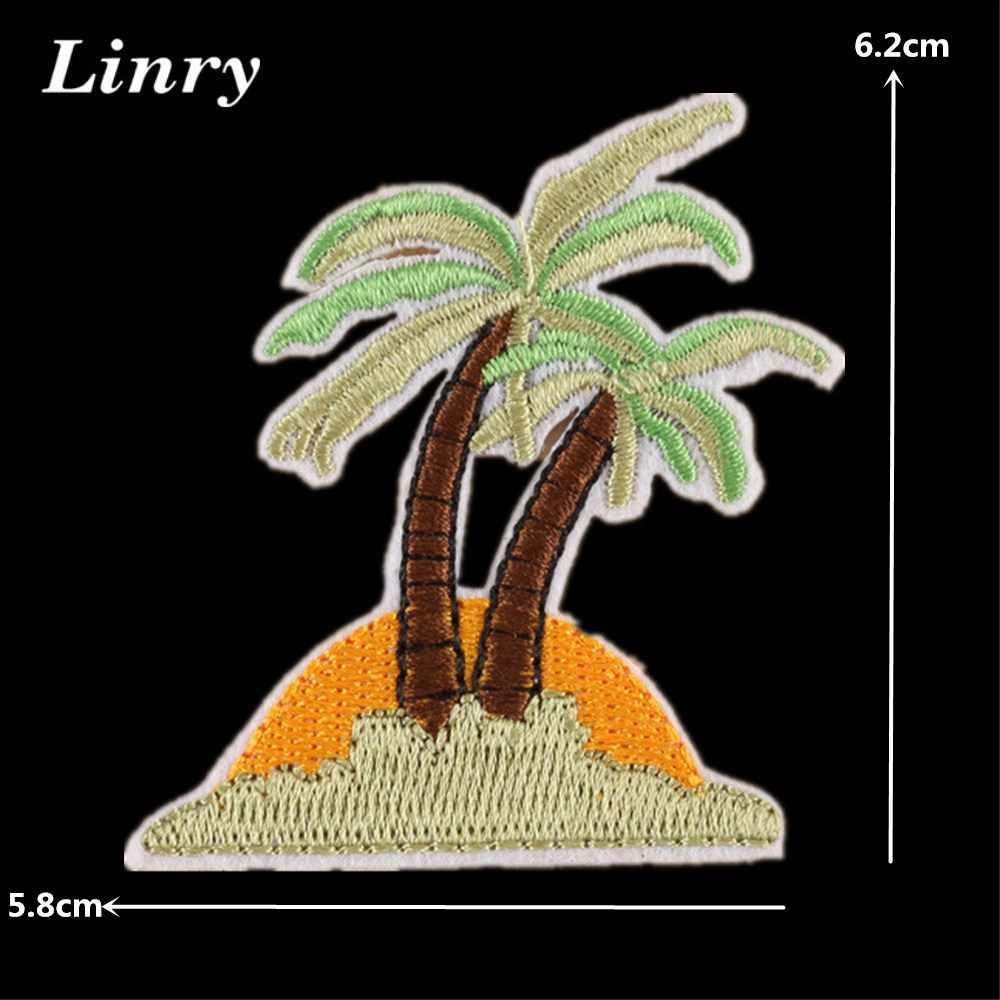 Hawaii hula menina bordado remendo para roupas sacos tampas de coco flor cactus ferro em remendos diy vestuário listras adesivos