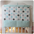 Brand New Baby Cot Bed Hanging Storage Bag Crib  Organizer Storage Bag 60*50cm Toy Diaper Pocket for Crib Bedding Set