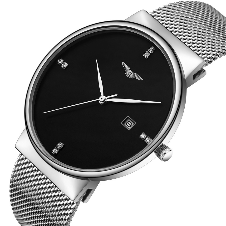 ФОТО GUANQIN Watch Men Luxury Brand Business Casual full Steel Watch Quartz Watch Men Fashion Waterproof Wristwatch Montre Homme