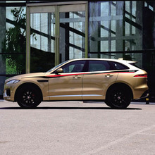 World Datong Sport Stripes Car Stickers For  Jaguar F-PACE E-PACE I-PACE car Both side body sport auto stickers jabra sport pace black