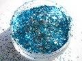 Azul de Prata Glitter Mix para Gel Unha Polonês Fazendo Fornecedor G519