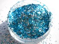 Blue Silver Glitter Mix for Gel Nail Polish Making Supplier G519