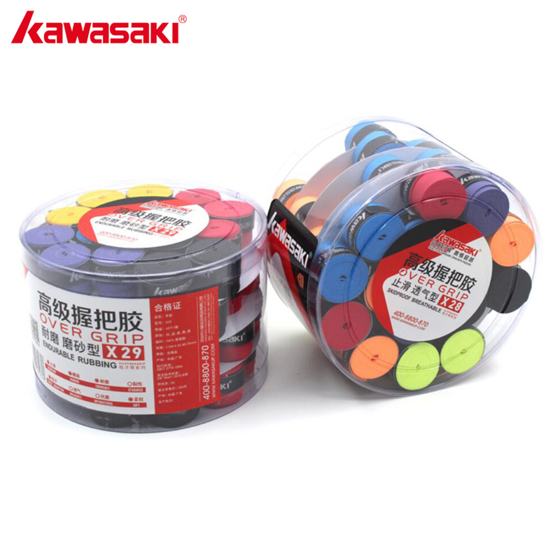 60Pcs/lot KAWASAKI Badminton Over Grips Hand Sweatband Tennis Racket Overgrips Racquet Accessories Sweatband X29