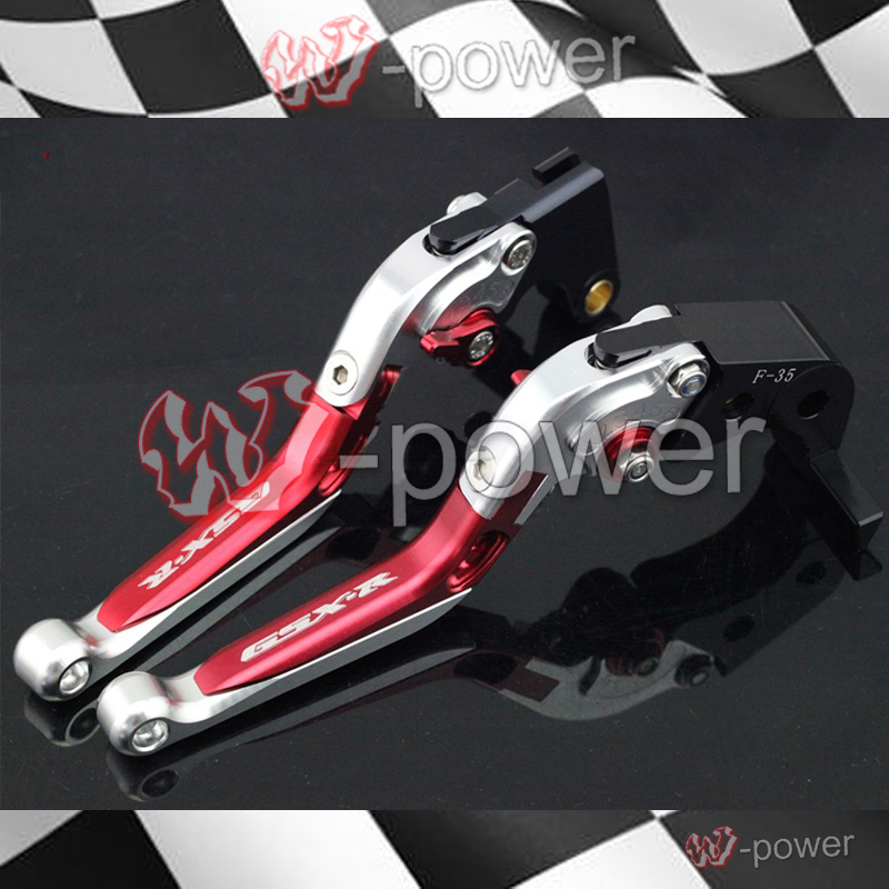 fite For SUZUKI  GSXR600 GSXR750 06-10, GSXR1000 05-06 Motorcycle Adjustable Fold-out Extendable Brake clutch lever Red + alu new folding billet adjustable brake clutch levers for suzuki gsxr 600 750 1000 gsxr600 gsxr750 gsxr1000 09 10 11 12 13 14 15