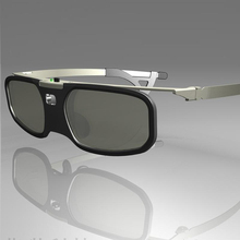 1 unids dlp del obturador gafas 3d gafas para benq/z4/h1/g1/p1 compatible 96-144 hz dlp-link proyectores con clip de la miopía