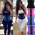 * Usps * cinturón hot body shapers cintura látex corsés de cintura de underbust cincher entrenador cintura delgada fajas body mujeres de látex