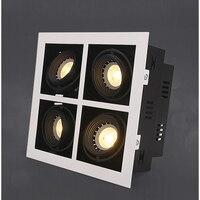 Светодиодный Потолочные светильники двойной светодиодный вставлять пятно лампы 4x5 Вт светодиодный модулей площади потолочный светильник
