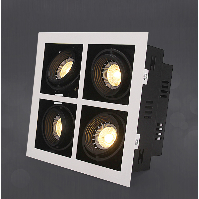 LED Ceiling Lights Double LED Embed spot lamps 4x5W led modules Square ceiling light lamp home Lighting for living room led ceiling lights led spot lamps illumination 3x10w led ceiling light rectangle lamp body home art lighting for living room