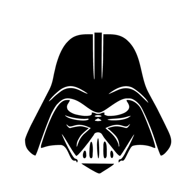 Darth vader laptop van vinyl sticker car window graphic new decal star wars