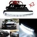 2 Unids 12 V 8 W 8LED luz Corriente Diurna Impermeable Luz Led Externo Car Styling Fuente de Luz Barra de La Lámpara de Niebla Del Coche Blanco Libre gratis