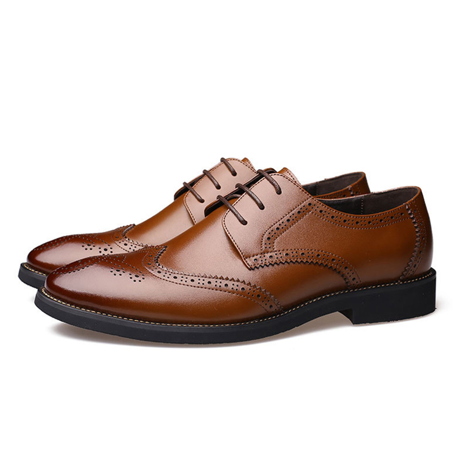 Luxury Design Oxford Business Men Shoes Genuine Leather High Quality - Men's Shoes - Photo 2