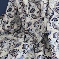 Этнический Paisey Материал Натуральный Шелк Хлопок Поплин Ткань 100 см * 145 см
