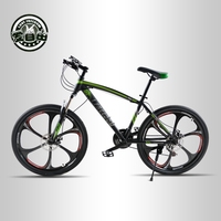 Love Freedom 21 Speed Mountain Bike 26 Inch High Carbon Steel Dual Disc Brakes One Wheel