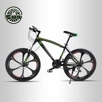 Love Freedom 21 Speed Mountain Bike 26 Inch High Carbon Steel Dual Disc Brakes One Wheel