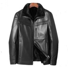 Genuine Leather Jacket Men Real Mink Fur Liner Warm Coat Winter Jacket Men Real Sheepskin Coats