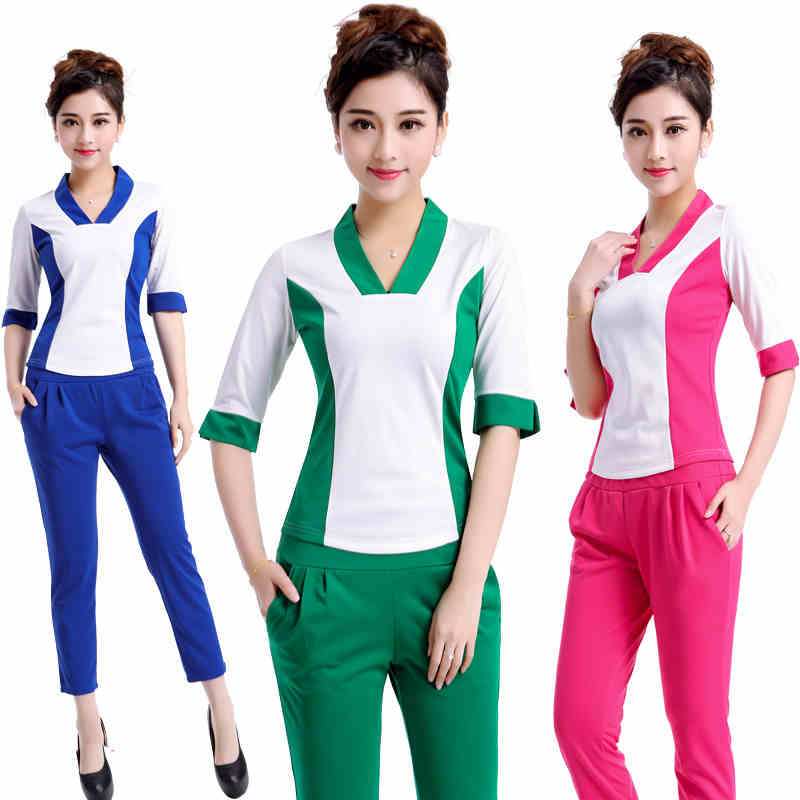 High quality new hairdresser overalls hairdressing suit for Spa uniform policy