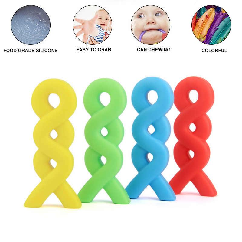 Случайный младенческий ребенок прорезиненное Силиконовое ожерелье для прорезывания зубов Прорезыватель пустышка аутизм дети