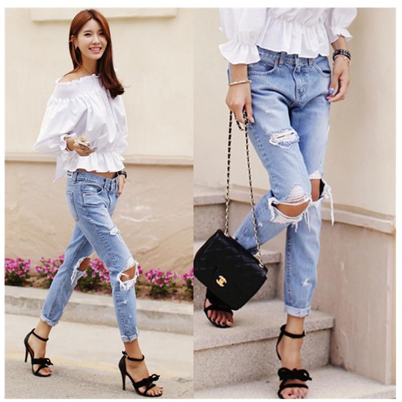 U15d0Denim jeans pants women u10f1 big big hole ripped designer jeans women u1403 trousers trousers vintage ...