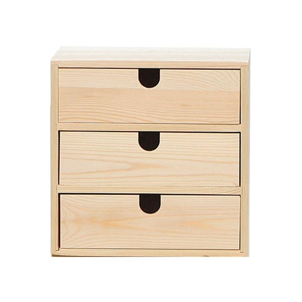 A1 Wood storage box desktop cosmetic storage cabinet multi layer drawer office desk storage box wx10251125