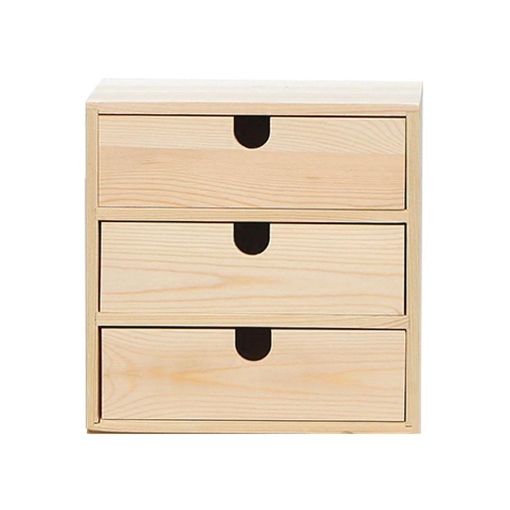 Ev ve Bahçe'ten Saklama Kutuları ve Kovaları'de A1 Ahşap saklama kutusu masaüstü kozmetik depolama dolabı çok katmanlı çekmece ofis masası saklama kutusu wx10251125'da  Grup 1