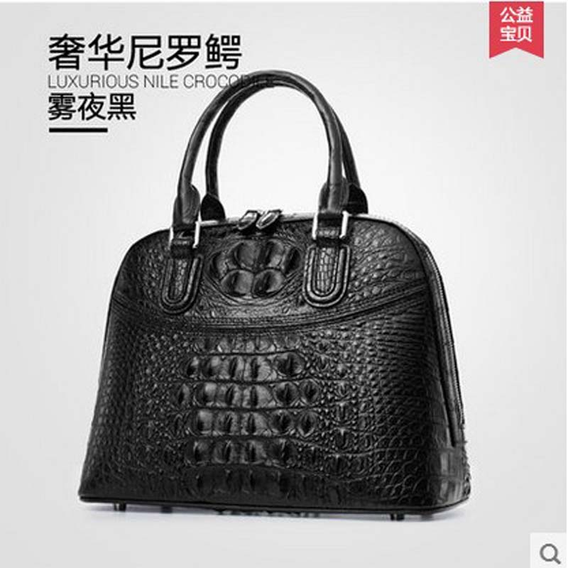 Gete 2017 New Import Really Crocodile Skin Bag Women Handbags Real Leather Fashion Trends Europe And The Costly Female In Top Handle Bags From