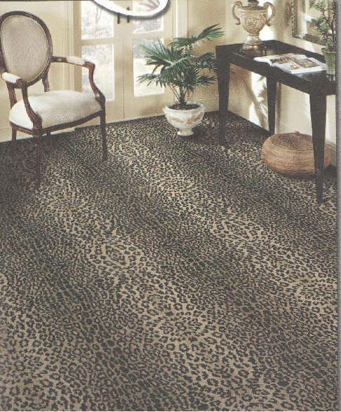 Wall to wall carpet leopard print carpet pure wool living ...