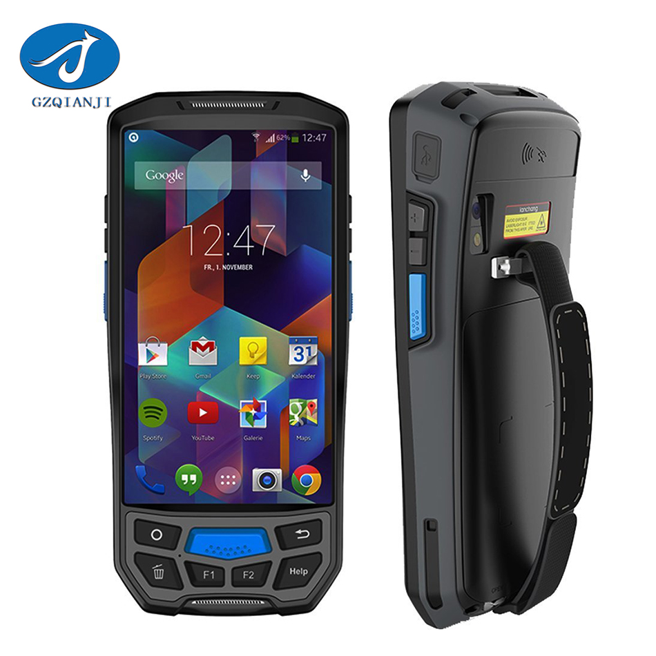 Android 7.0 Handheld PDA Wireless WIFI Bluetooth Barcode Scanner 1D 2D QR Barcode Scanner GPS NFC UHF RFID Handheld Terminal PDA
